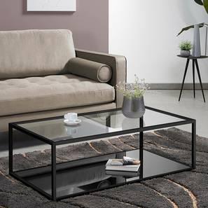Kavie Coffee Table - Black (Black, Powder Coating Finish) by Urban Ladder - Design 1 - 358685