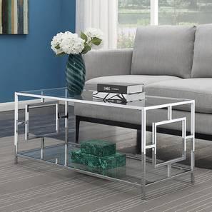 Ollie Coffee Table - Silver (Silver, Powder Coating Finish) by Urban Ladder - Design 1 - 358721