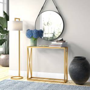 Greer Console Table - Gold (Gold, Powder Coating Finish) by Urban Ladder - Design 1 - 358879
