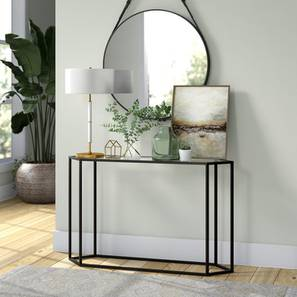 Ritter Console Table - Black (Black, Powder Coating Finish) by Urban Ladder - Design 1 - 358951