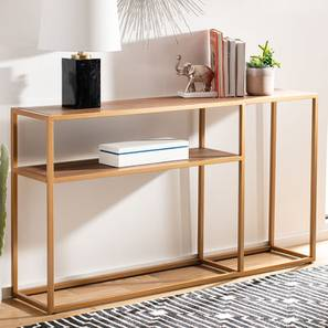 Scorpio Console Table - Gold (Gold, Powder Coating Finish) by Urban Ladder - Design 1 - 358987