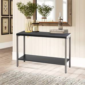 Zima Console Table - Black (Black, Powder Coating Finish) by Urban Ladder - Design 1 - 359042