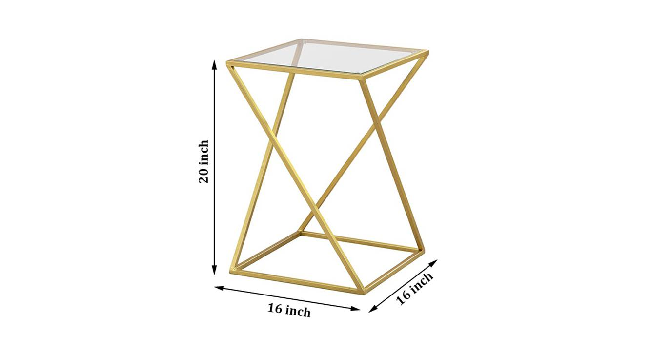 Aura side and end table gold 6