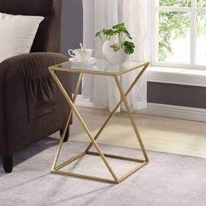 Aura Side & End Table - Gold (Gold, Powder Coating Finish) by Urban Ladder - Design 1 - 359065