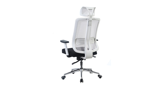 Arlo Study Chair - White (White) by Urban Ladder - Front View Design 1 - 359216