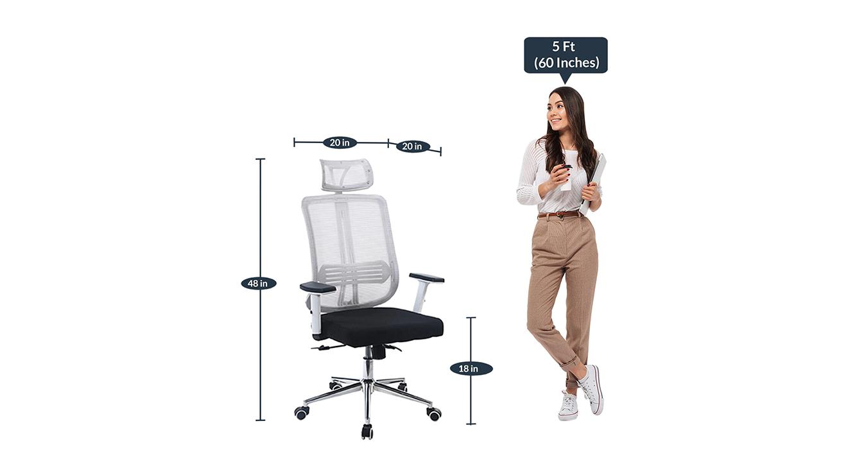 Arlo study chair white 6