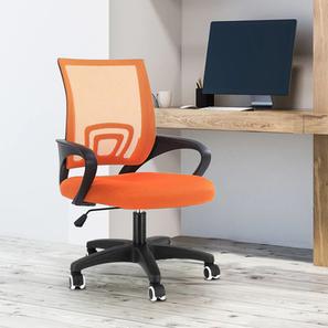 Teana Study Chair - Orange (Orange) by Urban Ladder - Design 1 - 359358