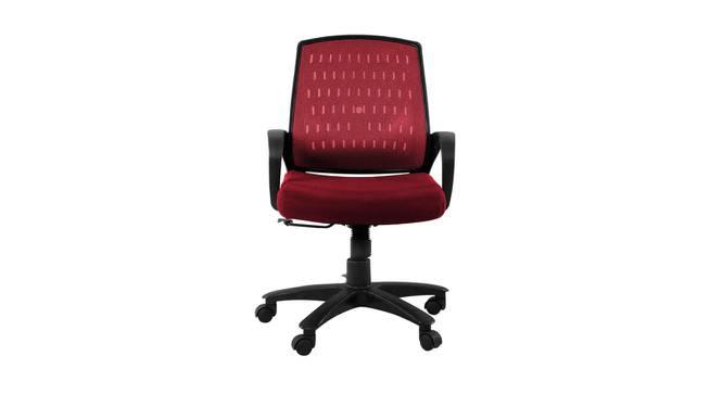 Vesta Study Chair - Maroon (Marron) by Urban Ladder - Front View Design 1 - 359405