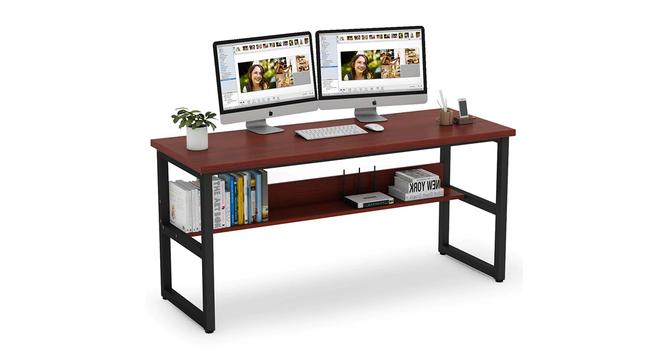 Niam Large Study Table - Dark Brown (Dark Brown, Wood Finish) by Urban Ladder - Cross View Design 1 - 359451