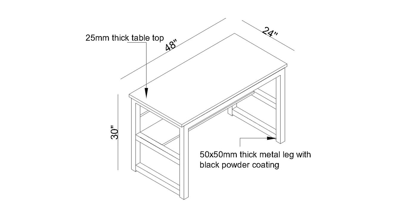Niam large study table dark brown 6