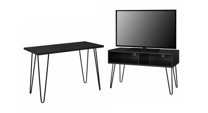 Thar Study Table - Black (Black, Metal Finish) by Urban Ladder - Cross View Design 1 - 359501