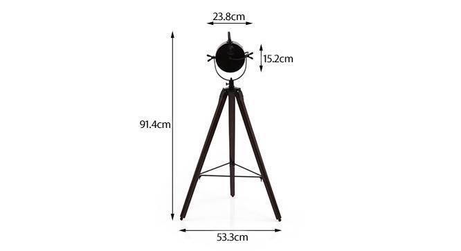 Belfast tripod spotlight matte black mahogany 06 img 0016 dm