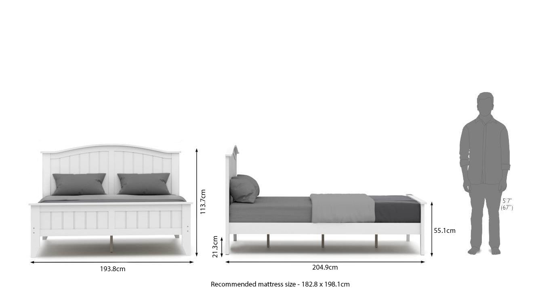 Wichita white bed new 21
