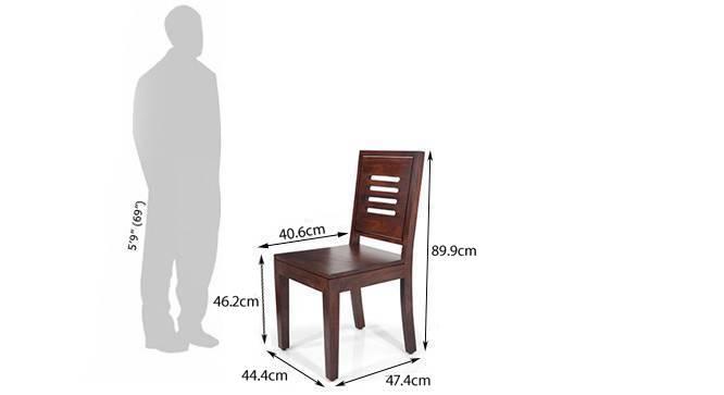Danton 3to6 capra 6 seat folding dining table set mahogany finish dim 164