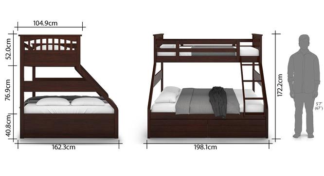 Barnley Single Over Queen Storage Bunk Bed Urban Ladder