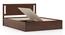 Brandenberg Storage Bed (Solid Wood) (King Bed Size, Dark Walnut Finish, Box Storage Type) by Urban Ladder - -