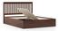 Athens Storage Bed (Solid Wood) (Queen Bed Size, Dark Walnut Finish, Box Storage Type) by Urban Ladder - -