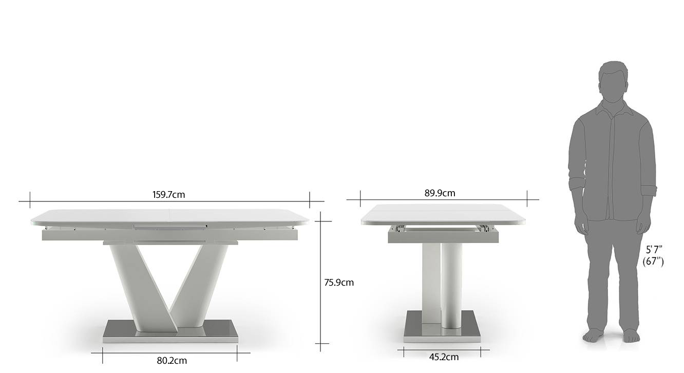 Caribu 6 to 8 extendable dining table dimension image new 232