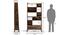 Alberto Bookshelf/Display Unit (85-book capacity) (Teak Finish) by Urban Ladder - -
