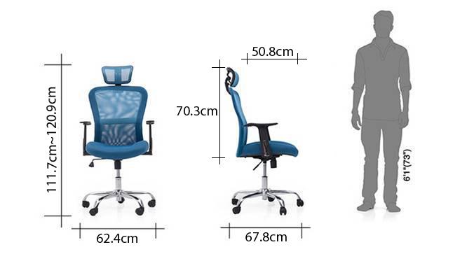 Venturi study chair 3 axis adjustable aqua dim 82