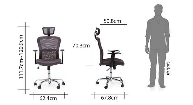 Venturi study chair 3 axis adjustable ash grey dim 68
