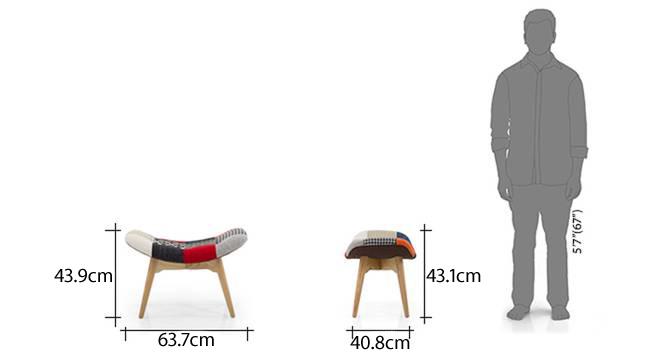 Contour chair ottoman replica patch work new13
