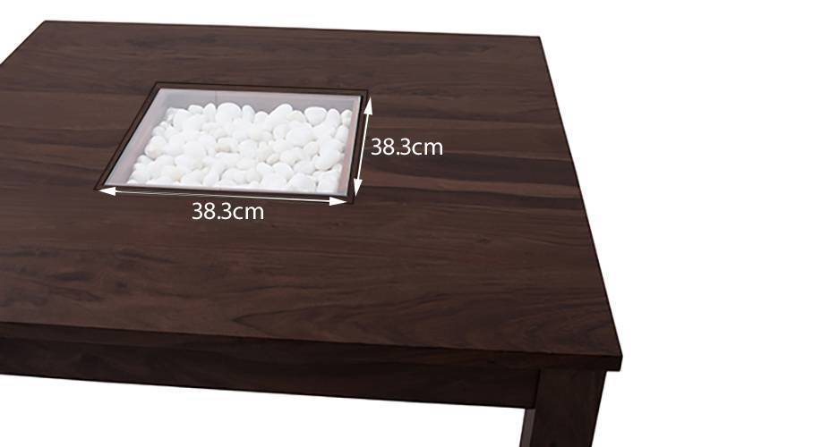 Brighton square dining table mahogany finish with groove 6