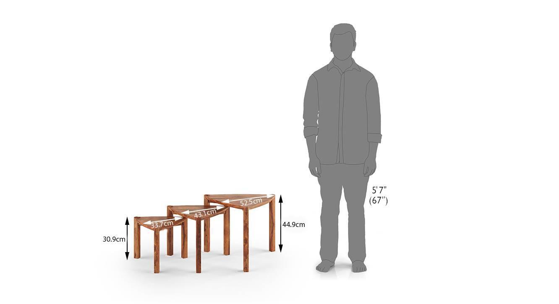 Clapton nested table teak 6
