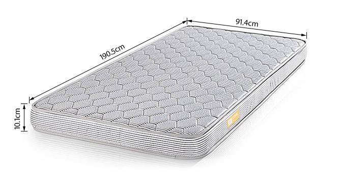 Essential Foam Mattress (Single Mattress Type, 75 x 36 in Mattress Size, 4 in Mattress Thickness (in Inches)) by Urban Ladder - -