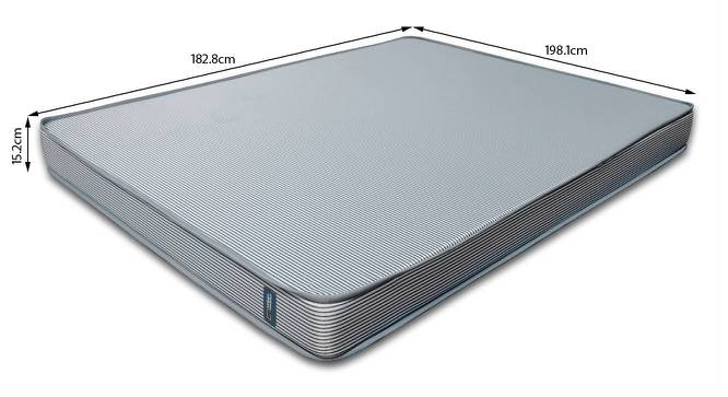 Essential Memory Foam Mattress With Temperature Control (King Mattress Type, 78 x 72 in (Standard) Mattress Size, 6 in Mattress Thickness (in Inches)) by Urban Ladder - -