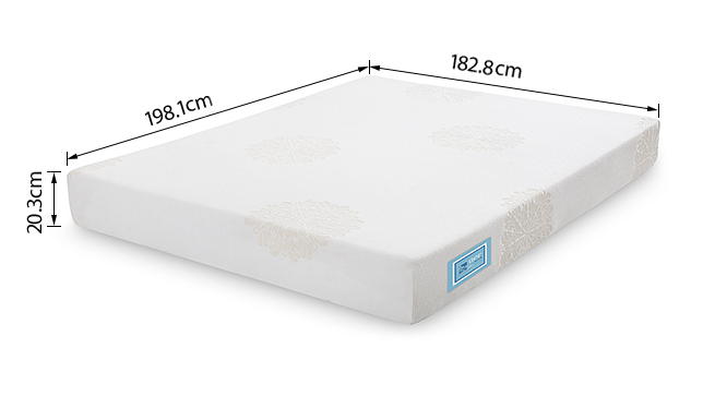 Aer Latex Mattress With Memory Foam (King Mattress Type, 78 x 72 in (Standard) Mattress Size, 8 in Mattress Thickness (in Inches)) by Urban Ladder - -