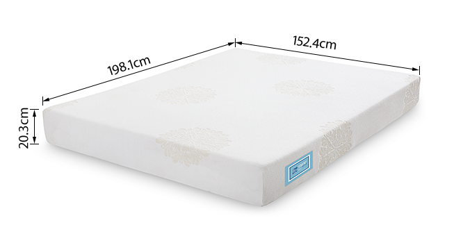 Aer Latex Mattress With Memory Foam (Queen Mattress Type, 78 x 60 in (Standard) Mattress Size, 8 in Mattress Thickness (in Inches)) by Urban Ladder - -