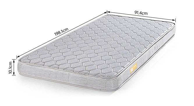 Essential Foam Mattress (Single Mattress Type, 78 x 36 in (Standard) Mattress Size, 4 in Mattress Thickness (in Inches)) by Urban Ladder - -