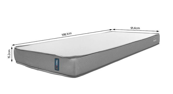 Essential Memory Foam Mattress With Temperature Control (Single Mattress Type, 78 x 36 in (Standard) Mattress Size, 6 in Mattress Thickness (in Inches)) by Urban Ladder - -