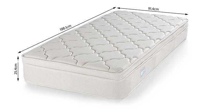 Cloud Pocket Spring Mattress with Memory Foam Eurotop (Single Mattress Type, 78 x 36 in (Standard) Mattress Size, 10 in Mattress Thickness (in Inches)) by Urban Ladder - -