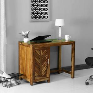 Leslie Study Table (Semi Gloss Finish, Rustic Teak) by Urban Ladder - Design 1 - 360777