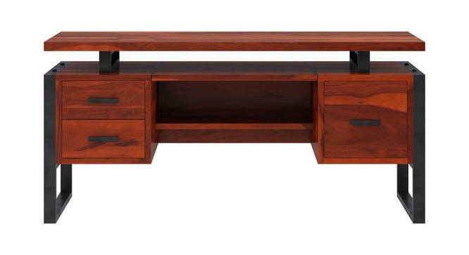 Maryse Study Table (Semi Gloss Finish, Honey Oak) by Urban Ladder - Front View Design 1 - 360825