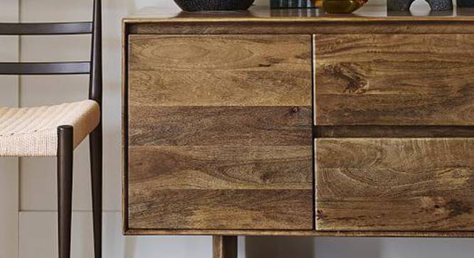 Rudy Sideboard (Semi Gloss Finish, Natural Teak) by Urban Ladder - Front View Design 1 - 360932