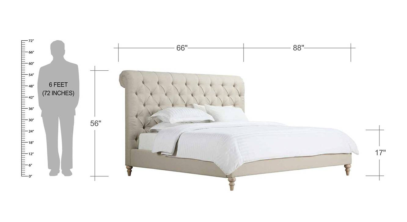 Cesar upholstered non storage bed 6
