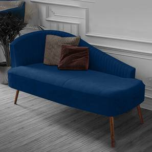 Elite Navy Chaise Lounger (Navy Blue, Classic Finish) by Urban Ladder - Design 1 - 361201