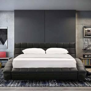 Essential Upholstered Bed (Black, King Bed Size) by Urban Ladder - Design 1 - 361236