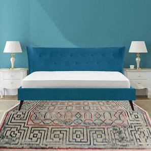 Prodigious Non Storage Bed (Blue, King Bed Size) by Urban Ladder - Design 1 - 361521