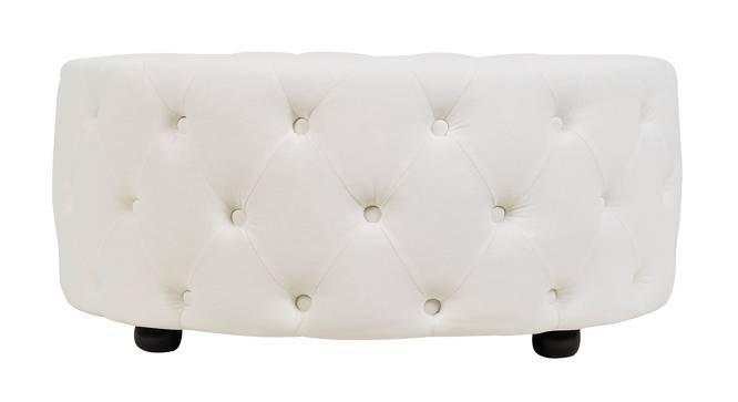 Round Ottoman (White) by Urban Ladder - Cross View Design 1 - 361549