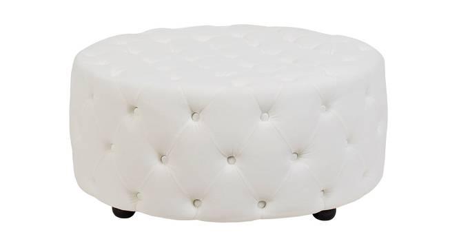 Round Ottoman (White) by Urban Ladder - Front View Design 1 - 361550