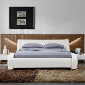 Savvy Non Storage Bed (White, Queen Bed Size) by Urban Ladder - Design 1 - 361581