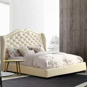 Vintage Platform Bed (Queen Bed Size, Beige) by Urban Ladder - Design 1 - 361624