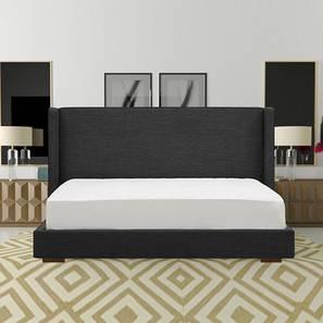 Zenith Non Storage Modern Bed (Queen Bed Size, Dark Grey) by Urban Ladder - Design 1 - 361642