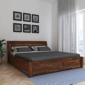 Christian Platform Storage Bed (King Bed Size, Semi Gloss Finish) by Urban Ladder - Design 1 - 361656