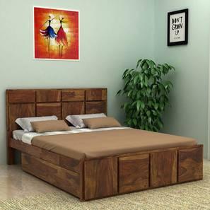 Juan Platform Storage Bed (Queen Bed Size, Semi Gloss Finish) by Urban Ladder - Design 1 - 361690
