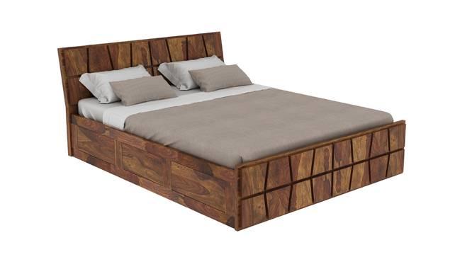 Meighen Platform Storage Bed (Queen Bed Size, Semi Gloss Finish) by Urban Ladder - Cross View Design 1 - 361705